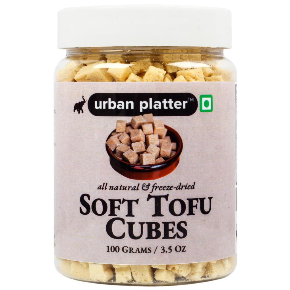 Urban Platter Soft Tofu Cubes, 100g / 3.5oz [All Natural, Freeze-Dried, Protein Rich]