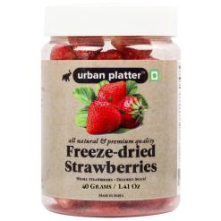Urban Platter Freeze Dried Whole Strawberry, 40g / 1.4oz [All natural, Premium Quality, Delicious]