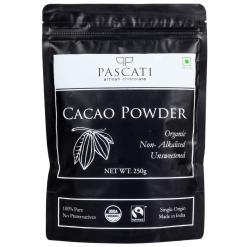 Pascati Organic Non-Alkalised Cacao Powder, 250g [Unsweetened]