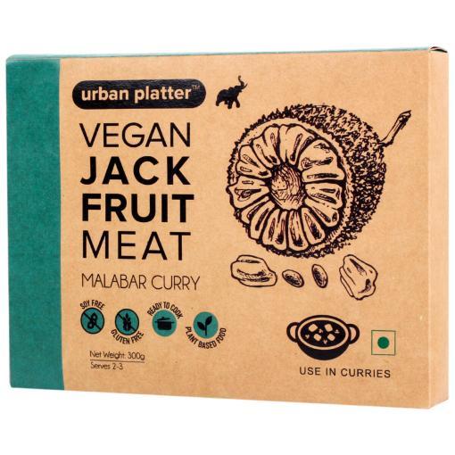 Urban Platter Vegan Jackfruit Meat, Malabar Curry, 300g / 10.5oz [MockMeat, Ready to Cook, Plant-Based]