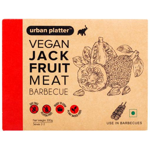 Urban Platter Vegan Jackfruit Meat, Barbecue, 300g / 10.5oz [MockMeat, Ready to Cook, Plant-Based]