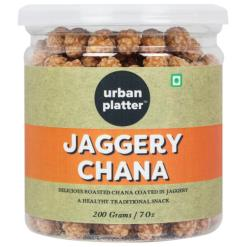 Urban Platter Jaggery Chana, 200g [Gur Chana, Deliciously Roasted Chana Coated in Jaggery]