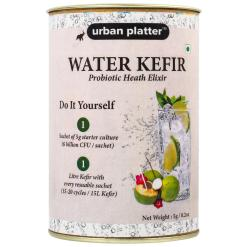 Urban Platter Water Kefir Starter Culture, 5g / 0.17oz [Natural Probiotic Drink, Vegan Immunity Booster, 1 sachet of 5g each]