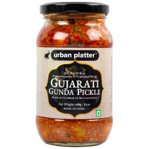 Urban Platter Gujarati Gunda Pickle, 350g / 12.34oz [Gumberry and Mustard Pickle, Traditional Recipe]
