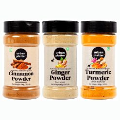 Urban Platter Shaker Jar Combo Pack of Turmeric Powder (100g), Cinnamon Powder (100g), Ginger Powder (80g)