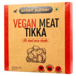 Urban Platter Vegan Meat (Soyabean) Tikka, 100g / 3.5oz [MockMeat, Ready to Cook, Plant-Based Protein]