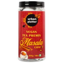 Urban Platter Vegan Tea Premix, Masala Chai, 500g / 18oz [Just Add Water, Masala Tea, Dairy-Free Instant Tea]