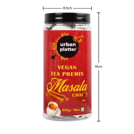 Urban Platter Vegan Tea Premix, Masala Chai, 500g / 18oz [Just Add Water, Masala Tea, Dairy-Free Instant Tea]