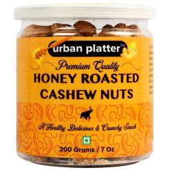 Urban Platter Honey Roasted Cashew Nuts, 200g / 7oz [Delicious, Tasty and Crunchy Snack]