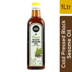 Urban Platter Organic Black Sesame (Til) Oil, 1 Litre / 33.8 fl.oz [Cold Pressed, Nutty, Aromatic]