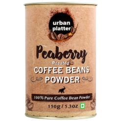 Urban Platter Peaberry Roasted Coffee Powder, 150g / 5.03 oz [100% Pure Coffee Bean Powder, Made From Finest Quality Beans]