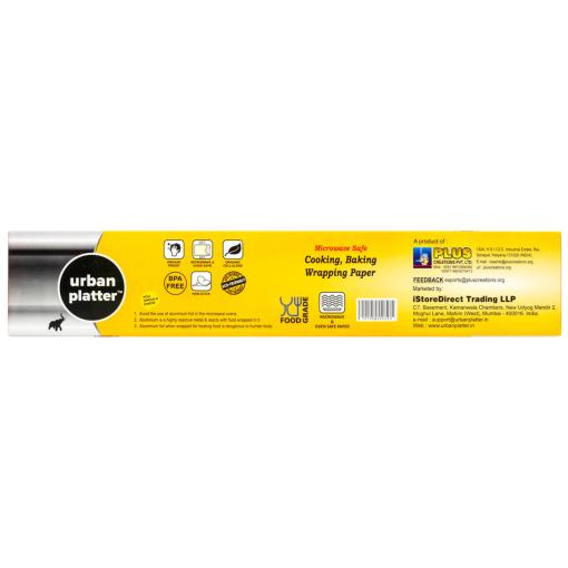 """Urban Platter Food Grade Baking & Cooking Paper Organic Parchment [Microwave & Oven Safe Paper, Size - 11"""" X 20 metres]"""