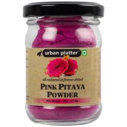 Urban Platter Freeze-Dried Pink Dragon Fruit Powder (Pink Thai Pitaya), 50g