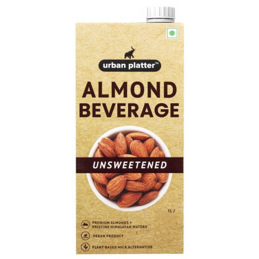 Urban Platter Unsweetened Almond Milk, 1 Litre (Pack of 12)