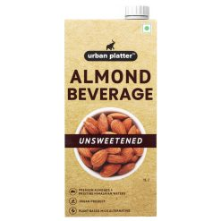 Urban Platter Unsweetened Almond Milk, 1 Litre [Barista-Grade, Lactose-Free, Plant-Based Milk Alternative]