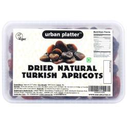 Urban Platter Natural & Unsulphured Turkish Apricots (Natural Alucha), 500g Tray