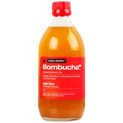 Urban Platter Artisanal Kombucha Tea, Apple Spice, 500ml [The Weight Watcher, Gut Health, By Bombucha]