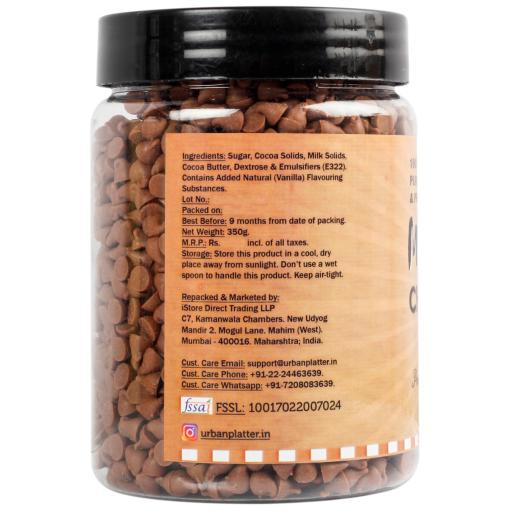 Urban Platter Milk Chocolate Chips, 350g / 12.3oz [Perfect for Baking & Garnishing]