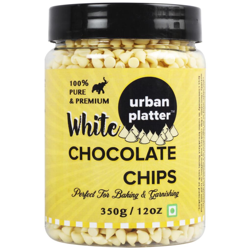 Urban Platter Pure White Chocolate Chips, 350g / 12oz [Perfect for Baking & Garnishing]