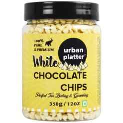Urban Platter Pure White Chocolate Chips, 350g / 12oz [Perfect for Baking & Garnishing]