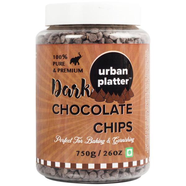 Urban Platter Dark Chocolate Chips, 750g / 26oz [Perfect for Baking & Garnishing]
