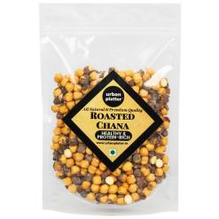 Urban Platter Roasted Mahabaleshwar Chana, 1Kg / 35.2oz [Grade A Chana, With Skin, Healthy Snack]