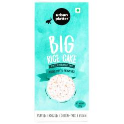 Urban Platter Organic Puffed Brown Big Rice Cakes, 125g