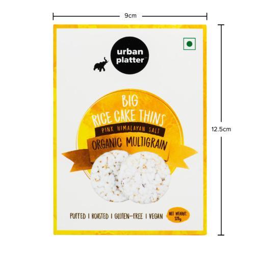 Urban Platter Organic Multigrain Big Rice Cake Thins, 125g