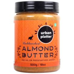 Urban Platter Almond Butter, 500g / 17.7oz [All Natural, No Hydrogenated oil, No preservatives]