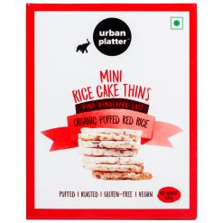Urban Platter Organic Puffed Red Mini Rice Cake Thins, 100g