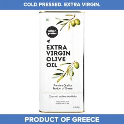 Urban Platter Premium Extra Virgin Olive Oil Can, 5 Litre [Hand Harvested Olives, Imported, Product Of Crete, Greece]