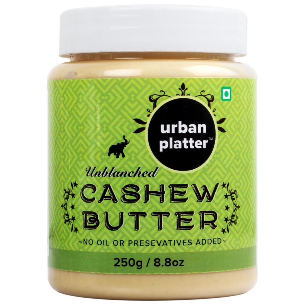 Urban Platter Cashew Butter, 250g [All Natural, No Hydrogenated oil, No preservatives]
