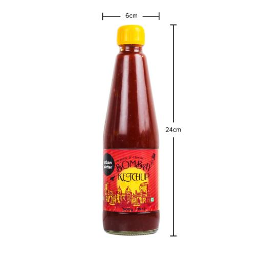 Urban Platter Classic Bombay Tomato Ketchup, 500g / 18oz [Made with Organic Tomatoes]