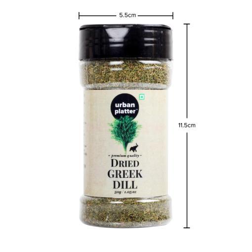 Urban Platter Dried Greek Dill Shaker Jar, 30g / 1.05oz [Superior Flavor]