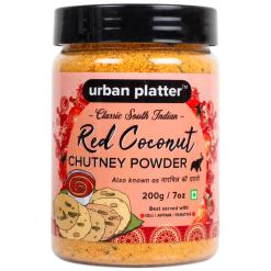 Urban Platter South Indian Style Instant Red Coconut Chutney Powder, 200g / 7oz [Nariyal ki Chutney, Just Add Water]