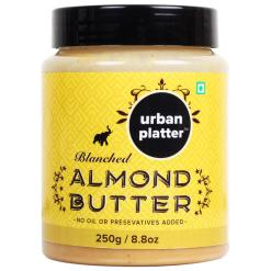 Urban Platter Blanched Almond Butter, 250g / 8.8oz [All Natural, No Hydrogenated Oil, No Preservatives]