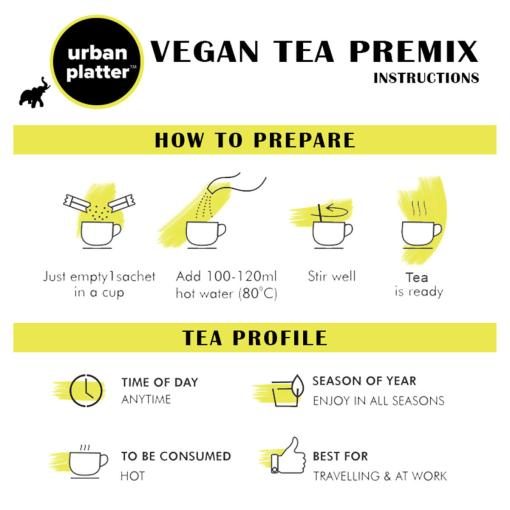 Urban Platter Unsweetened Vegan Tea Premix, Masala Chai, 250g / 8.8oz [Just Add Water, No Sugar, Masala Tea, Dairy-Free Instant Tea]