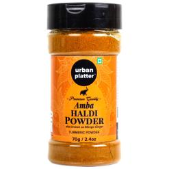 Urban Platter Amba Haldi Powder Shaker Jar, 70g / 2.34oz [Mango Ginger Turmeric Powder]