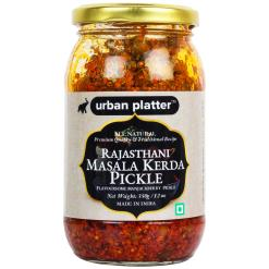 Urban Platter Rajasthani Masala Kerda Pickle, 350g / 12oz [Flavoursome Indian Capparis Berry Pickle, Traditional Recipe]
