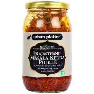 Urban Platter Rajasthani Masala Kerda Pickle, 350g / 12oz [Flavoursome Indian Capparis Berry Pickle, Traditional Recipe]