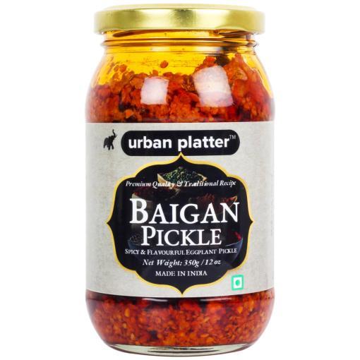 Urban Platter Traditonal Eggplant Baigan (Brinjal) Pickle, 350g