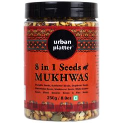 Urban Platter 8-in-1 Super-Seeds Mix Mukhwas, 250g / 8.8oz [Mouth Freshner, Heart-Healthy Seed Mix]