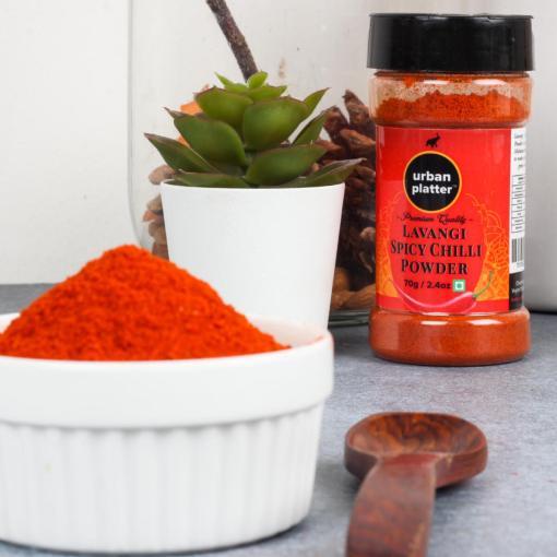 Urban Platter Lavangi Spicy Chilli Powder Shaker Jar, 70g / 2.4oz [Hot'n'Spicy]