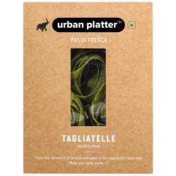 Urban Platter Vegan Pasta Fresca Spinach Tagliatelle, 250g / 8.8oz [Hand Crafted]