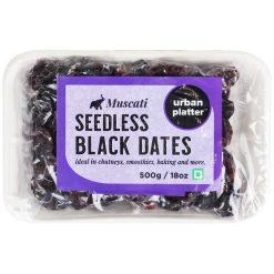 Urban Platter Muscati Seedless Black Dates(Khajur), 500g