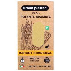 Urban Platter Italian Instant Yellow Corn Meal Polenta Bramata, 1Kg / 35.2oz