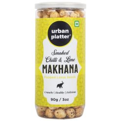 Urban Platter Smoked Chilli & Lime Makhana, 90g / 3oz [Crunchy & Healthy Popped Lotus Seeds]