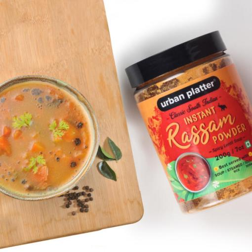 Urban Platter South Indian Style Instant Rassam Powder, 200g / 7oz [Spicy Lentil Soup, Just Add Water & Cook]