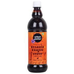 Urban Platter Kesaria Khajur Syrup, 750ml / 25.3fl.oz [Refreshing Saffron Date Syrup]