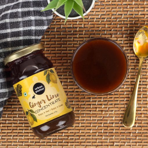 Urban Platter Ginger Lime Tea Concentrate, 275g [Just add Hot Water]